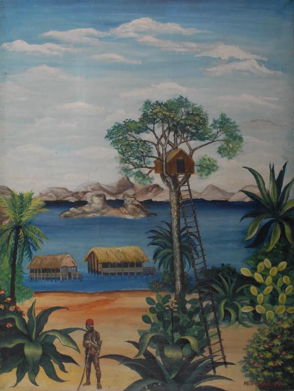 """""""Ma cabane au paradis"""" HsT Sbd 61x46 cm / Collect. Musée de Laval"""
