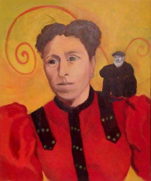 """""""Portrait de Mme Trouillard"""" HsT Ns 65x54 cm / Collect. partuculière / Dépôt Musée de Laval"""