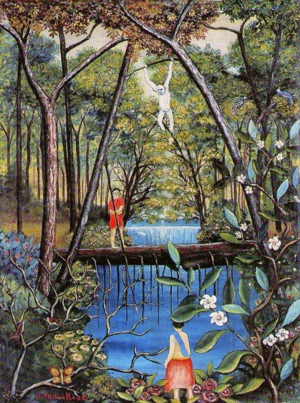"""""""Le singe blanc"""" HsT Sbg 61x46 cm / Collect.Particulière"""