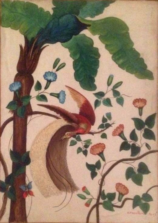 """""""Papier peint"""" Collect. partuculière / Dépôt Musée de Laval"""