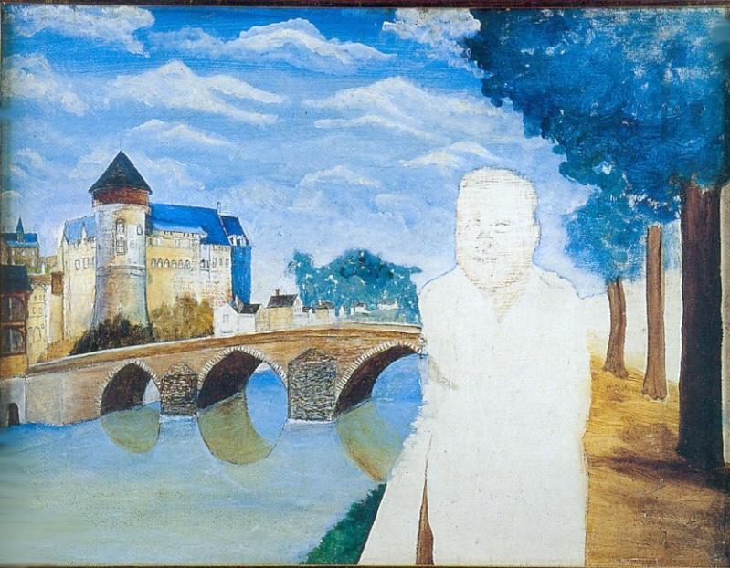 """""""Autoportrait inachevé"""" HsT Sbd 46x61 cm / Collect. Musée de Laval"""