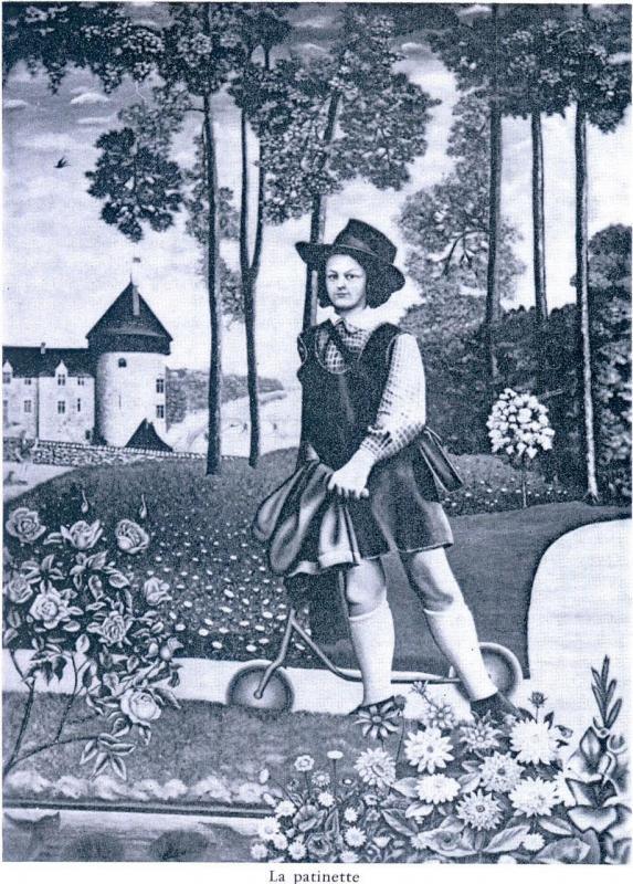 """""""La patinette"""" 1956 HsT Sb155x111 cm / Collect. particulière"""