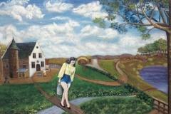 """""""La jeune fille au pot au lait"""" 1947 HsP Sbd 27x35 cm (Collect. Anatole Jakovsky) Collect. BR"""
