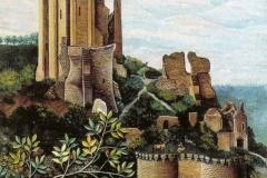 """""""Le château de Lavardin"""" HsT Sbg 65x80 cm / Collect. Particulière"""