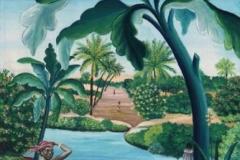 """L'oasis tunisien"" Hst Sbd 61x46 cm"