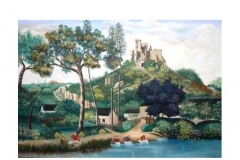 """""""Château de Lavardin"""" 1956 HsT Sbg / Collect. particulière"""