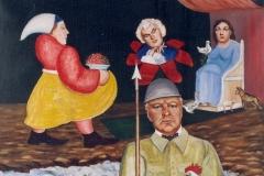 Churchill en dieu Mars Hst Sbd 70x90 cm -1955 -Collection particulère  / Dépôt Musée de Laval